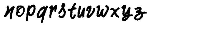 Two Fingers Script SuperRough Font LOWERCASE