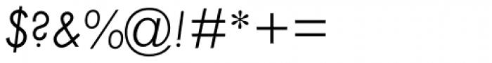 Twentieth Century Pro Light Italic Font OTHER CHARS