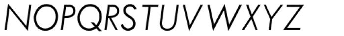 Twentieth Century Pro Light Italic Font UPPERCASE