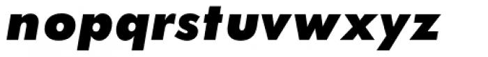 Twentieth Century Pro UltraBold Italic Font LOWERCASE