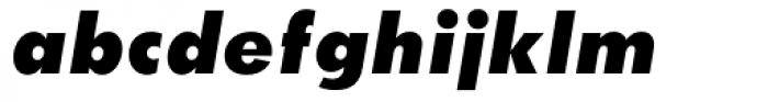 Twentieth Century UltraBold Italic Font LOWERCASE