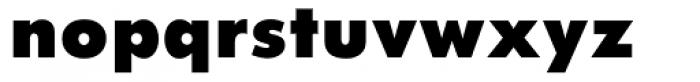 Twentieth Century UltraBold Font LOWERCASE