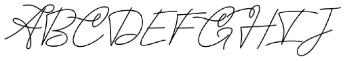 Twenty One Regular Font UPPERCASE