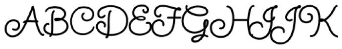 Twinkle Star Script Font UPPERCASE