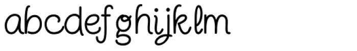 Twinkle Star Script Font LOWERCASE