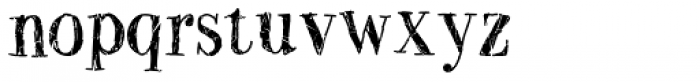 Two Fingers Bodoni Crashed Font LOWERCASE