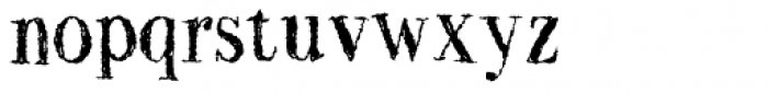 Two Fingers Bodoni Super Rough Font LOWERCASE