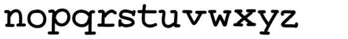 Two Fingers Courier Font LOWERCASE