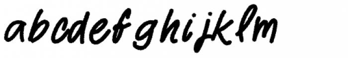 Two Fingers Script Rough Font LOWERCASE