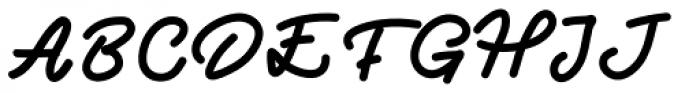 Two Fingers Script Font UPPERCASE
