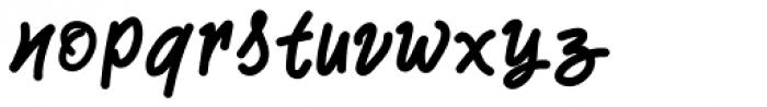 Two Fingers Script Font LOWERCASE