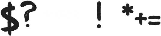 Txtrclb Brush-It Regular otf (400) Font OTHER CHARS