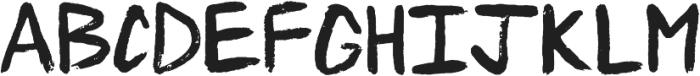 Txtrclb Brush-It Regular otf (400) Font UPPERCASE