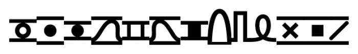 TXT101 Bold Font UPPERCASE