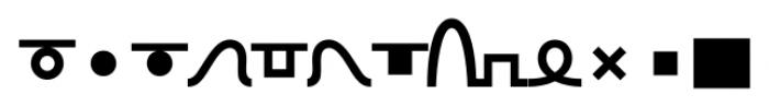 TXT101 Bold Font LOWERCASE