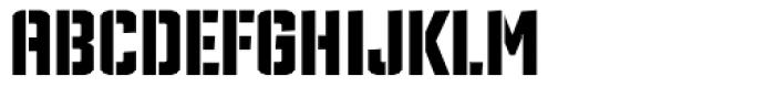 TX Manifesto Stencil Font UPPERCASE