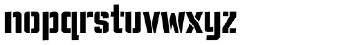 TX Manifesto Stencil Font LOWERCASE