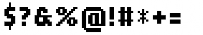 TX Map Bits Alpha Font OTHER CHARS