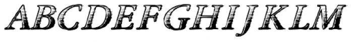TXT Antique Italic Font UPPERCASE