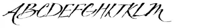 TXT Delicate Script Font UPPERCASE