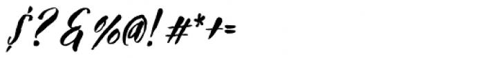 TXTBrush Script Font OTHER CHARS