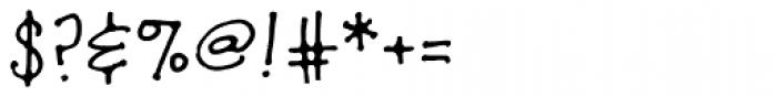 TXTHoopla Font OTHER CHARS