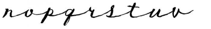 TXTLong Hand Font LOWERCASE
