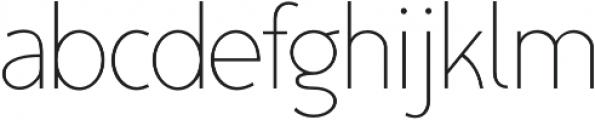 TyfoonSans ExtraLight otf (200) Font LOWERCASE