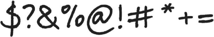 TyfoonScript Bold otf (700) Font OTHER CHARS