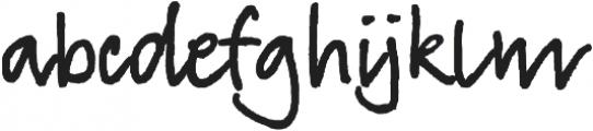 TyfoonScript Bold otf (700) Font LOWERCASE