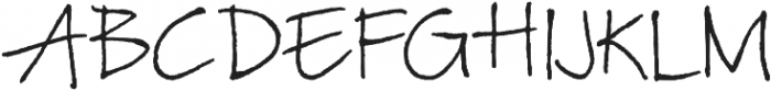 TyfoonScript Light otf (300) Font UPPERCASE