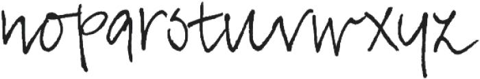 TyfoonScript Light otf (300) Font LOWERCASE