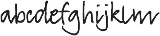 TyfoonScript otf (100) Font LOWERCASE