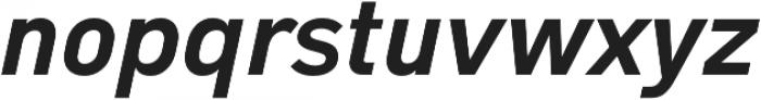 Type-36 ExtraBold Italic otf (700) Font LOWERCASE