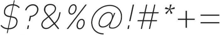 Type-36 ExtraLight Italic otf (200) Font OTHER CHARS
