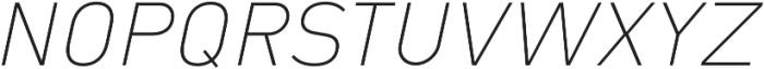 Type-36 ExtraLight Italic otf (200) Font UPPERCASE