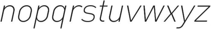 Type-36 ExtraLight Italic otf (200) Font LOWERCASE