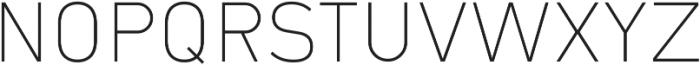 Type-36 ExtraLight ttf (200) Font UPPERCASE