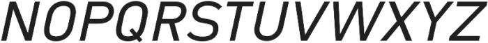 Type-36 SemiBold Italic otf (600) Font UPPERCASE
