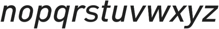 Type-36 SemiBold Italic otf (600) Font LOWERCASE