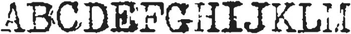 Type Old Writer otf (400) Font UPPERCASE