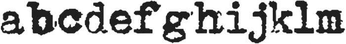 Type Old Writer otf (400) Font LOWERCASE