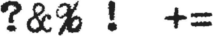Typewriterfont Regular otf (400) Font OTHER CHARS
