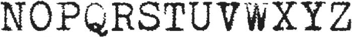 Typewriterfont Regular otf (400) Font UPPERCASE