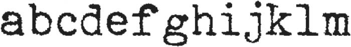 Typewriterfont Regular otf (400) Font LOWERCASE