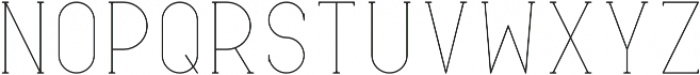 Typical Regular otf (400) Font UPPERCASE