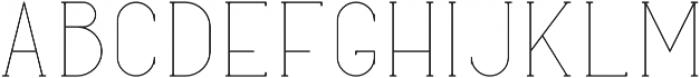 Typical Regular otf (400) Font LOWERCASE