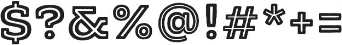 Typnic Headline Slab Inline otf (400) Font OTHER CHARS
