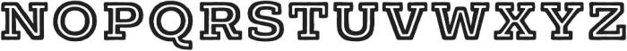 Typnic Headline Slab Inline otf (400) Font LOWERCASE