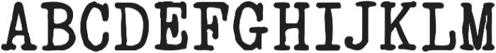 typrighter otf (400) Font UPPERCASE